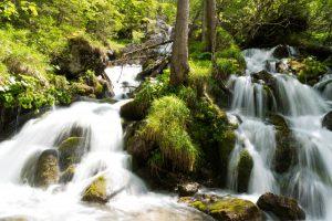 Wasserfall auf dem Weg zur Bindalm